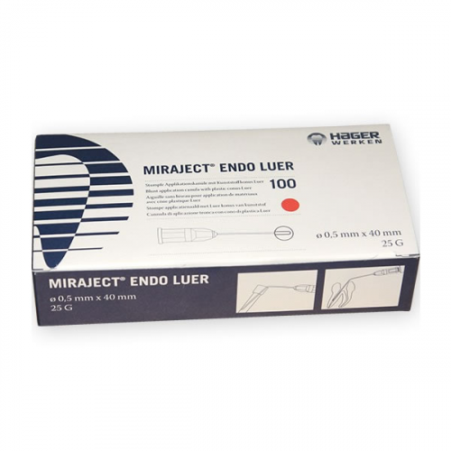 AGUJAS MIRAJECT ENDOTEC LUER 25g (40x0,5mm.) 100u.