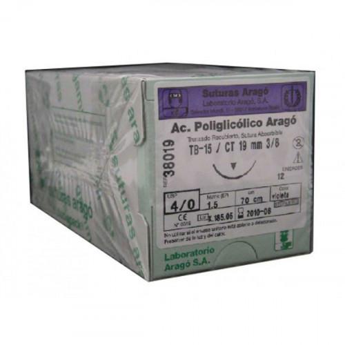 SUTURA A.POLIGLICOLICO TB-12 5/0 12u.