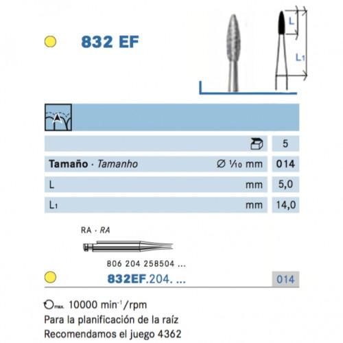 832EF-014 CA DIAMANTE GRANO X-FINO 5u