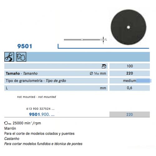 9501-900-220 DISCO SEPARAR 10u.