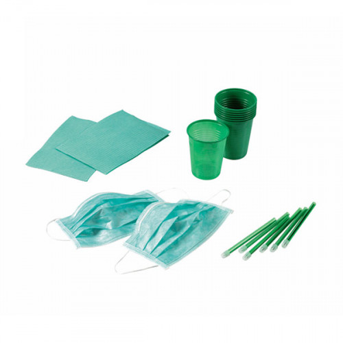 KIT 4 DESECHABLES VERDE 500 PACIENTES