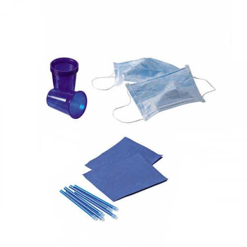 KIT 4 DESECHABLES AZUL MARINO 500 PACIENTES