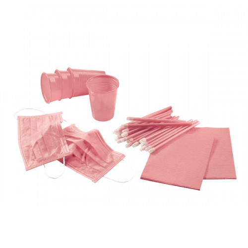 KIT 4 DESECHABLES ROSA 500 PACIENTES