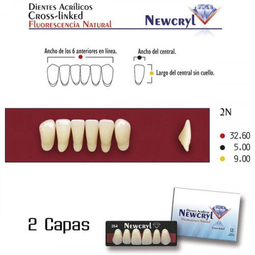 DIENTES NEWCRYL-VITA 2N LO A2