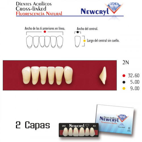 DIENTES NEWCRYL-VITA 2N LO A3.5
