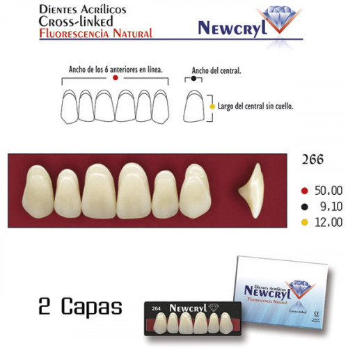 DIENTES NEWCRYL-VITA 266 UP A2