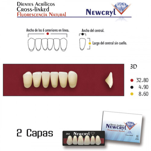 DIENTES NEWCRYL-VITA 3D LO B3