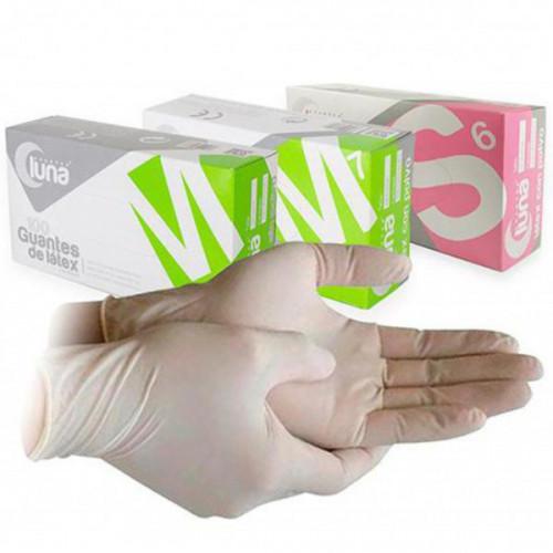 guantes látex Luna sin polvo